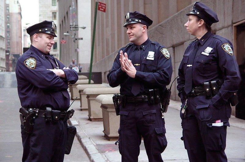полиция сша на перекуре