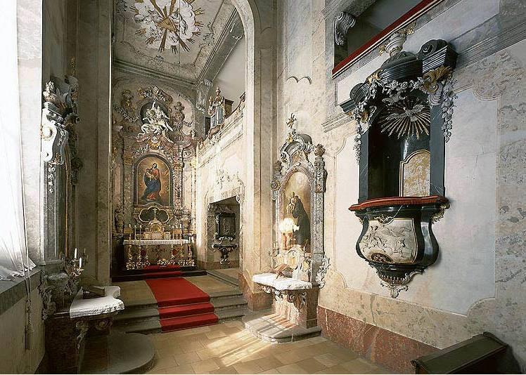 внутреннее убранство замка Крумлов