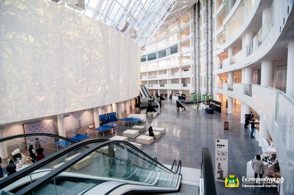 атриум Ельцин центра на фото