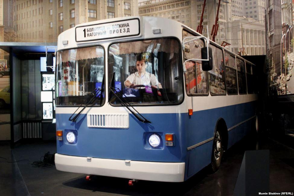 троллейбус в музее Ельцина