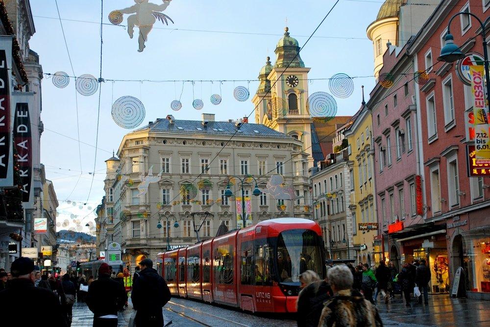 городская улица в Австрии