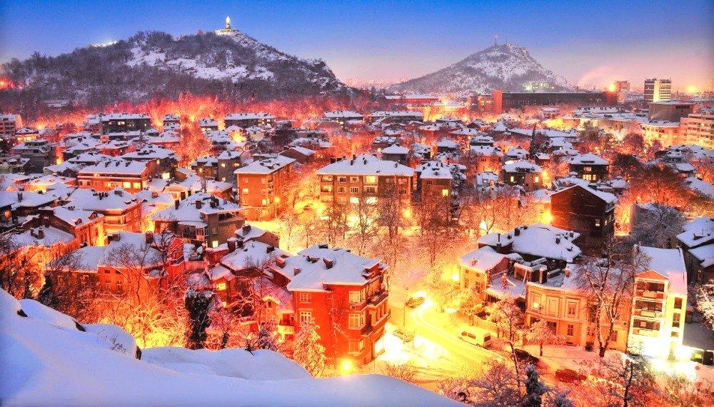 фото Пловдива зимой