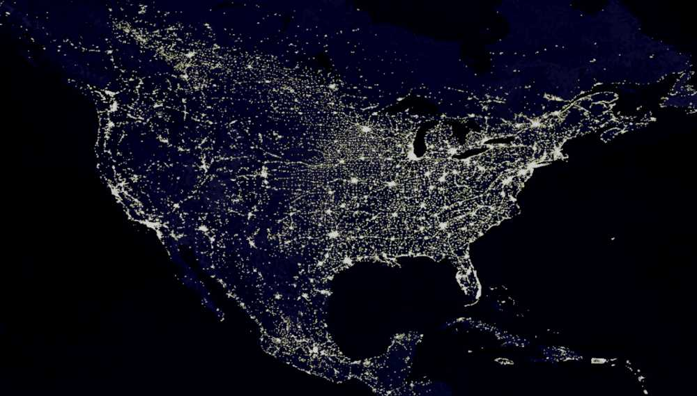 фото США из космоса ночью