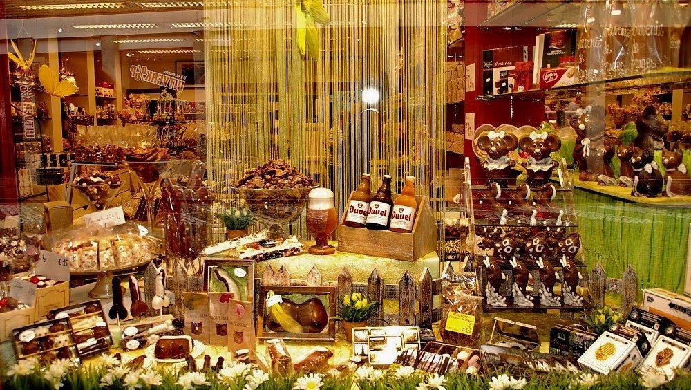 фотография музея шоколада в Брюгге
