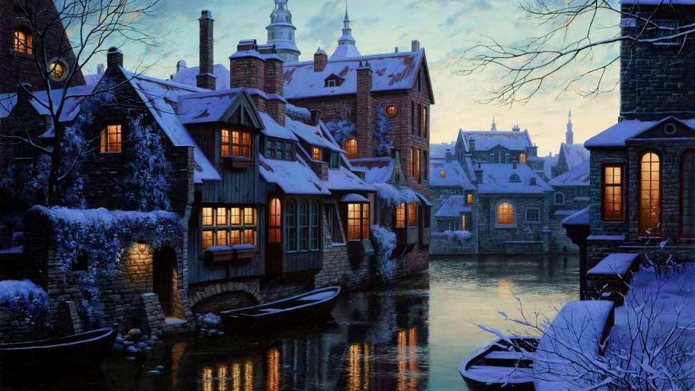 фото Брюгге зимой