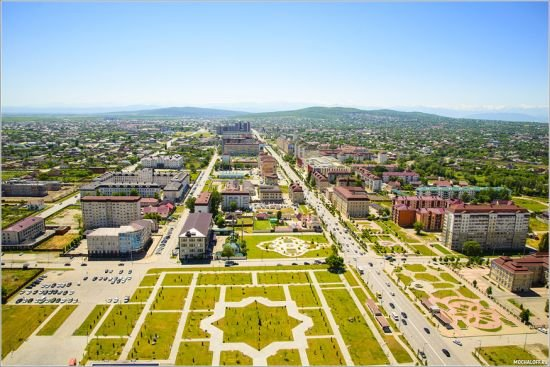 фото Грозного с высоты