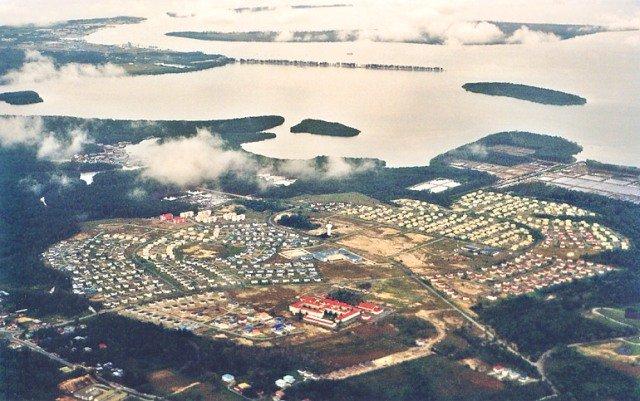 Вид с воздуха на Бруней