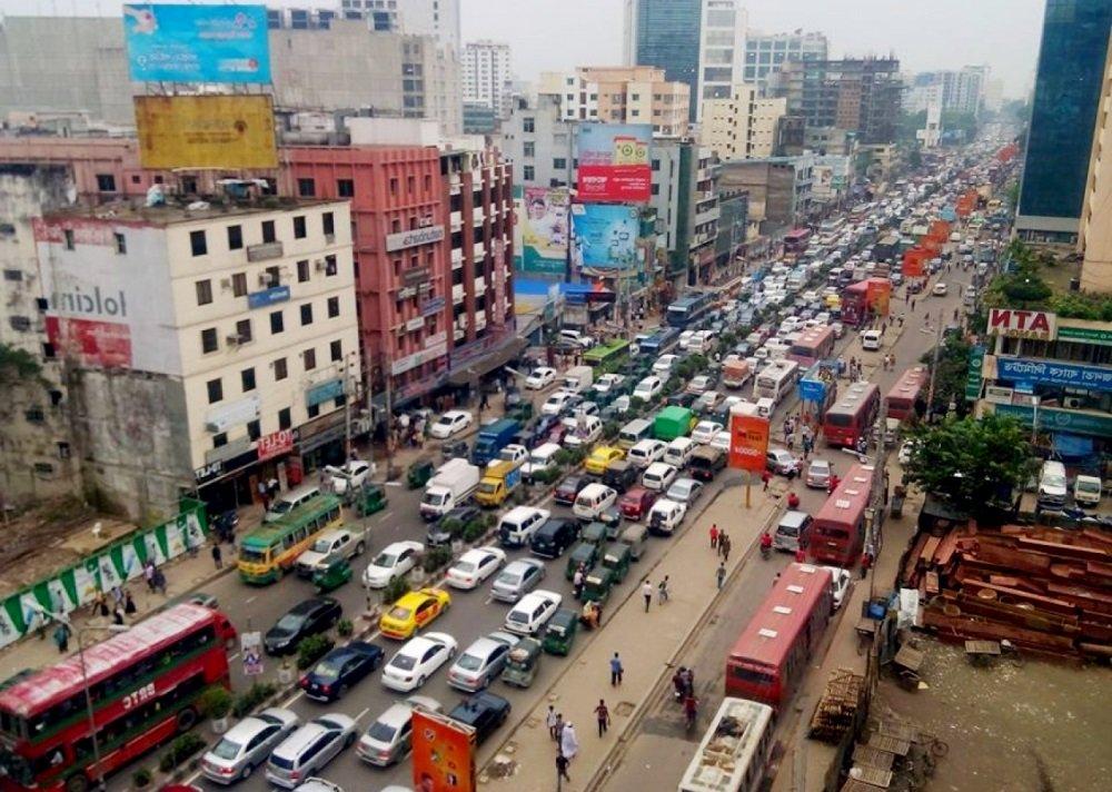 автомобильные пробки в Дакке
