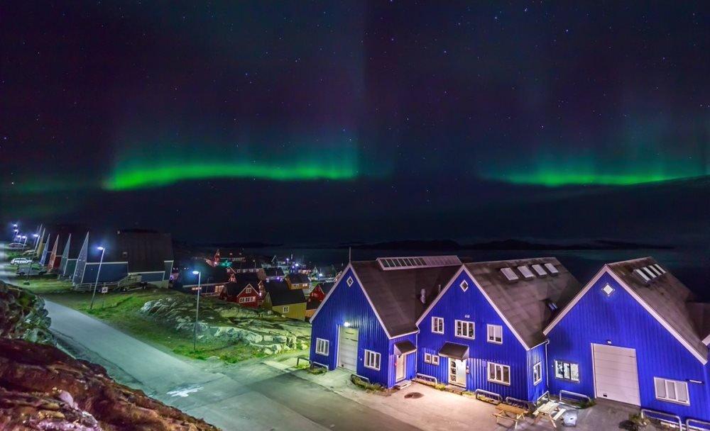фотография северного сияния в Нууке