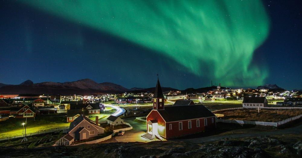 красивое фото северного сияния