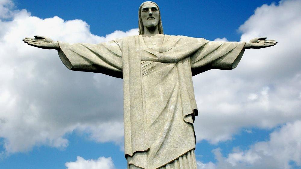 Статуя Иисуса Христа крупным планом