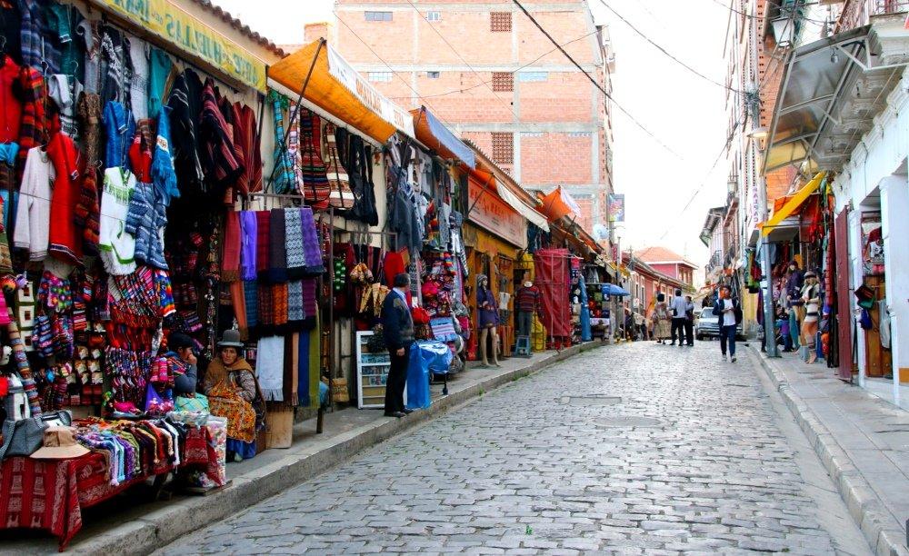 уличная торговля в Сукре