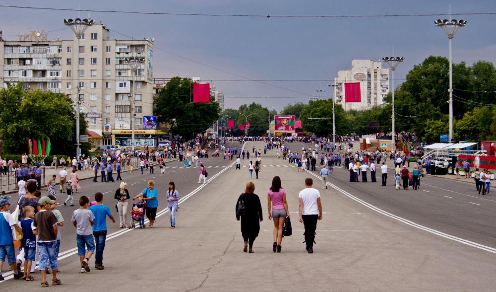 фото площади Суворова в Тирасполе
