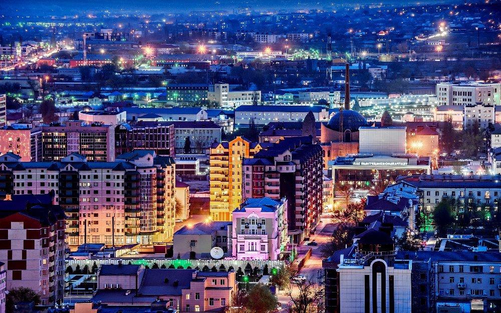 вечерняя фотография Грозного