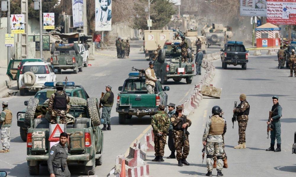 военные на улицах Кабула