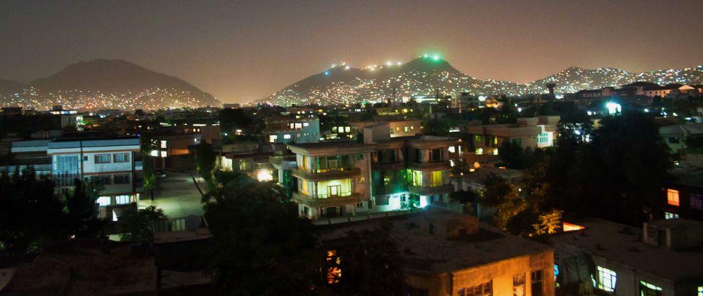 фотография Кабула ночью