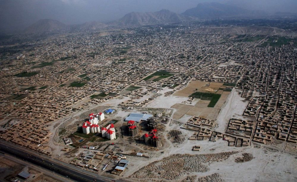 городская панорама Кабула