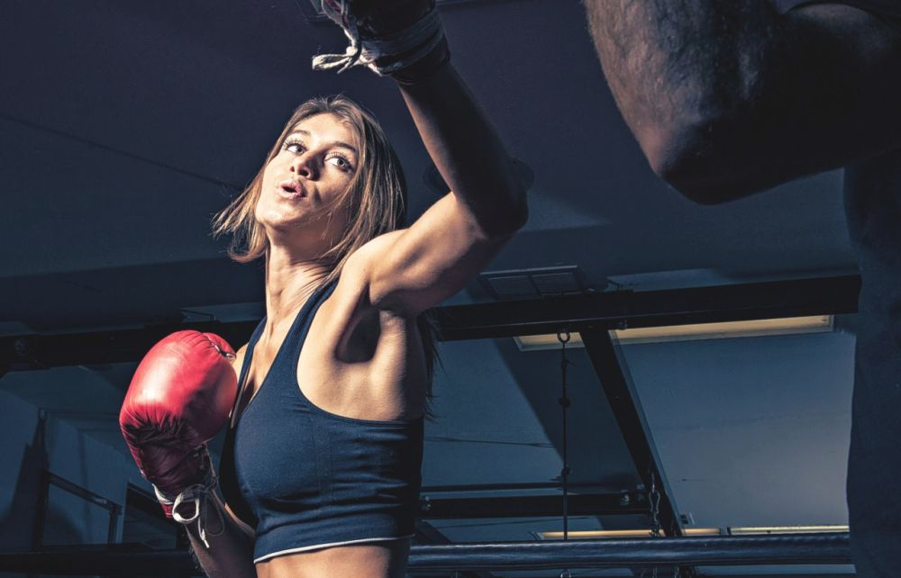 спортсменка из бокса