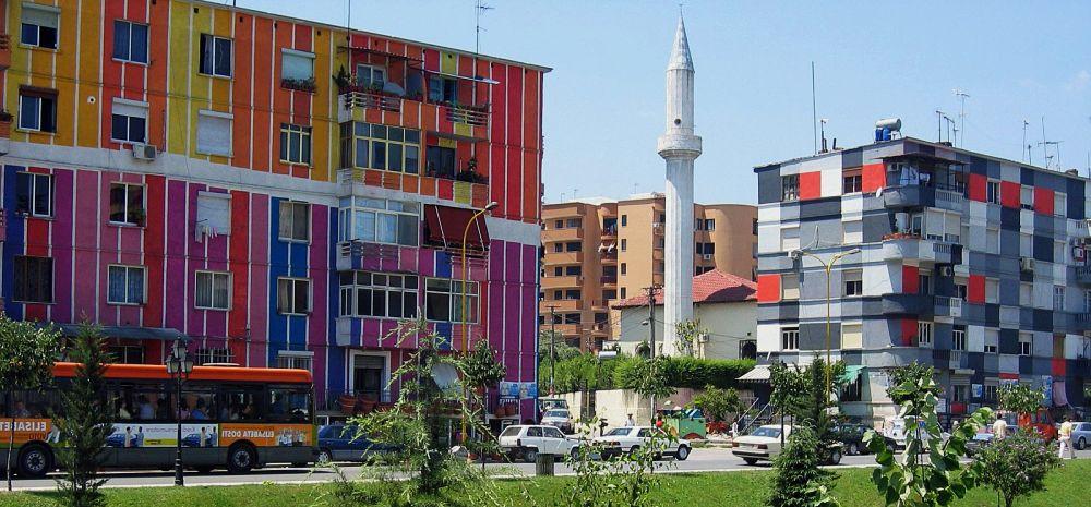 цветные многоэтажки
